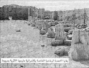 Abu Mena - Marble column remains