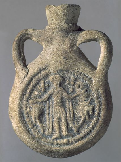 Ampulla (Flask) of Saint Menas, late 500s�mid-700s (The Metropolitan Museum of Art, New York)