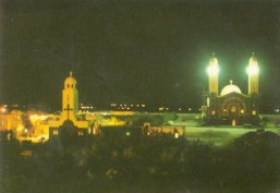 St. Mina Monastery in Mariut by night